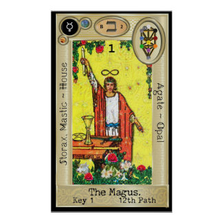 Ifdawn Deepdream Tarot Key 1 ~ The Magus Poster