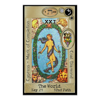 Ifdawn Deepdream Tarot Key 21 ~ The World Poster