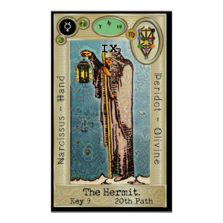 Ifdawn Deepdream Tarot Key 9 ~ The Hermit Poster
