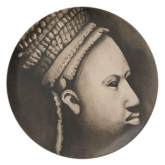 Ife African Art Plate