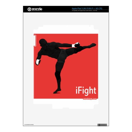 iFight iPad 3 Decal