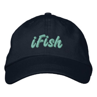 iFish in Lake Tahoe, Sierra Nevada Mountains Embroidered Baseball Cap
