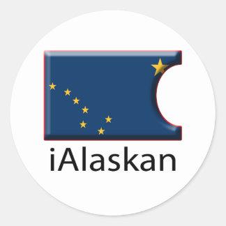 iFlag Alaska Classic Round Sticker