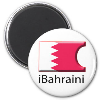 iFlag Bahrein Imán Redondo 5 Cm