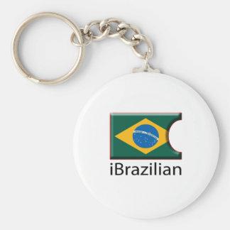 iFlag Brazil Basic Round Button Keychain