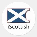iFlag Escocia Pegatina Redonda