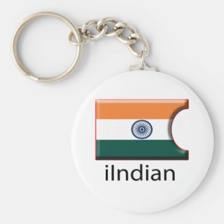 iFlag India Basic Round Button Keychain