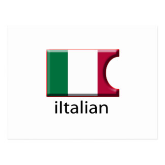 iFlag Italy Postcard