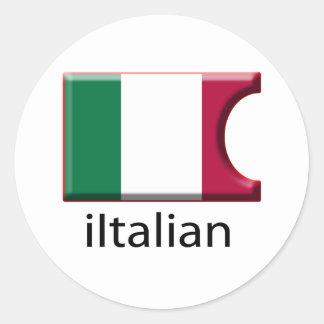 iFlag Italy Stickers