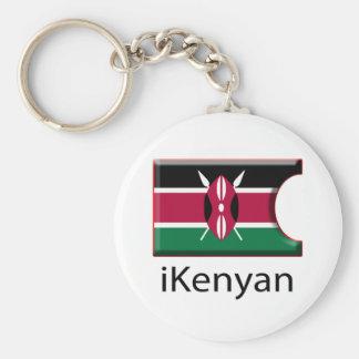 iFlag Kenya Basic Round Button Keychain