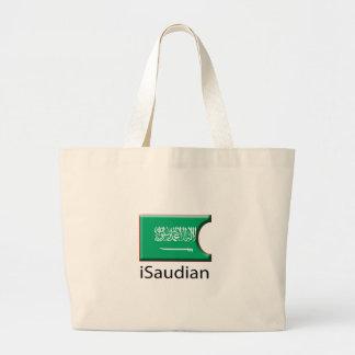 iFlag la Arabia Saudita Bolsa Tela Grande