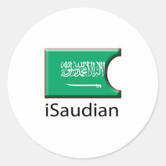 iFlag la Arabia Saudita Pegatina Redonda