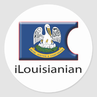 iFlag Louisiana Classic Round Sticker