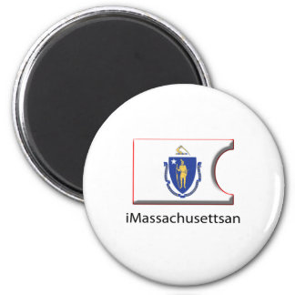 iFlag Massachusetts 2 Inch Round Magnet
