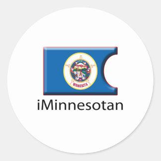 iFlag Minnesota Classic Round Sticker
