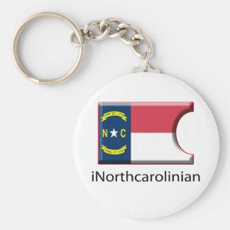 iFlag North Carolina Keychain