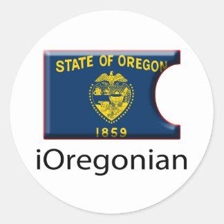 iFlag Oregon Pegatina Redonda