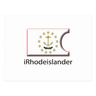 iFlag Rhode Island Postcard