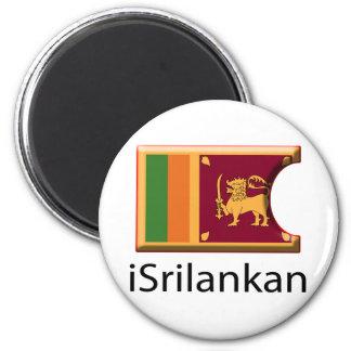 iFlag Sri Lanka Imán Redondo 5 Cm