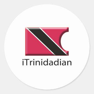 iFlag Trinidad Classic Round Sticker