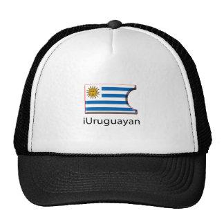 iFlag Uruguay Gorros Bordados