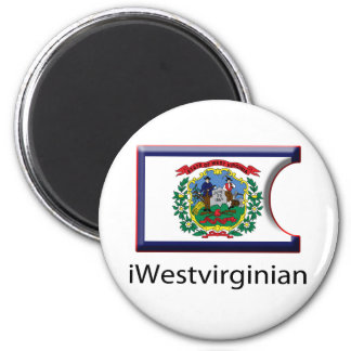 iFlag Virginia Occidental Imán Redondo 5 Cm
