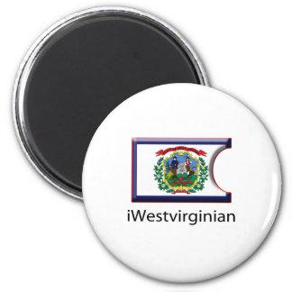iFlag West Virginia 2 Inch Round Magnet