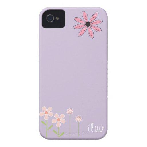 iflower para el iphone iPhone 4 Case-Mate funda
