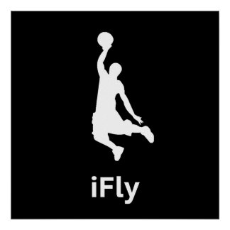 iFly Basketball Poster