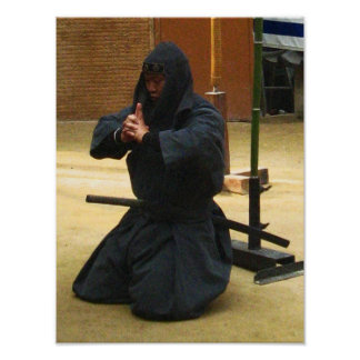 Iga Ninja Meditation Poster
