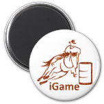 iGame Barrel Racing Horse Magnet