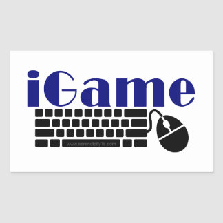 iGame Rectangular Sticker