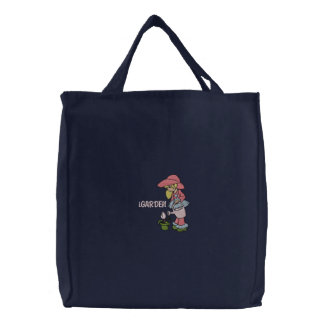 iGARDEN Girl Embroidered Tote Bag