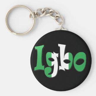 Igbo (bandera nigeriana) llavero