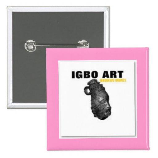"""IGBO, CULTURA Y ARTE """"CAMISETA"""" y etc de NIGERIA Pin Cuadrada 5 Cm"""