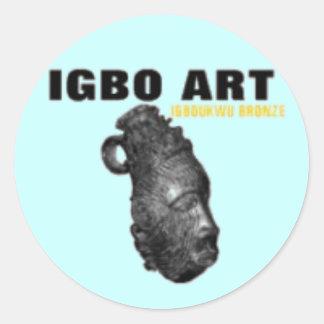 """IGBO, NIGERIA CULTURE AND ART """"T-SHIRT"""" & Etc Classic Round Sticker"""