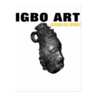 "IGBO, NIGERIA CULTURE AND ART ""T-SHIRT"" & Etc Postcards"