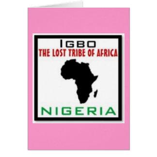 IGBO, NIGERIA GREETING CARD