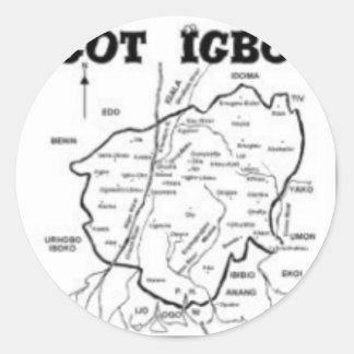 """IGBO"" TRIBE, NIGERIA(T-Shirt And etc) Classic Round Sticker"