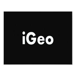 """iGeo Invitación 4.25"""" X 5.5"""""""