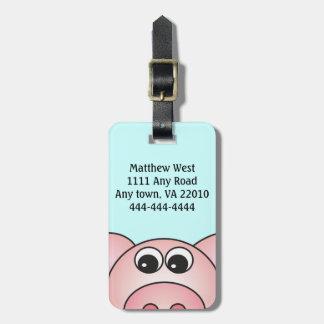 Iggy la etiqueta del bolso del cerdo etiqueta de maleta