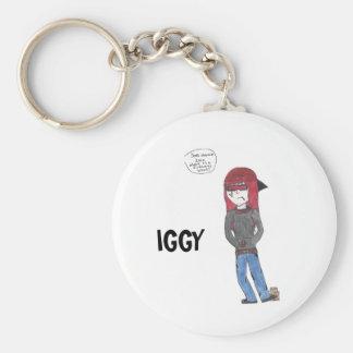 Iggy Products Basic Round Button Keychain