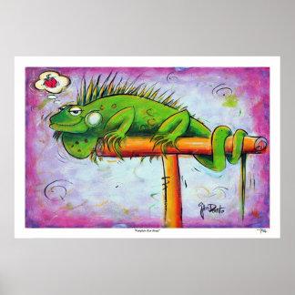 Iggy the Iguana Print by Artist John Donato