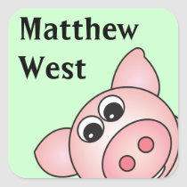 Iggy the Piggy Personalized Stickers