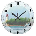ighthouse, barco Nassau Bahamas Reloj De Pared