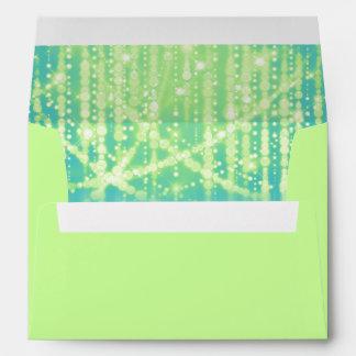 Ights brillantes de la verde lima azul del trullo sobres