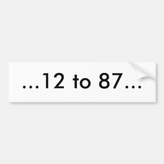 Iginla to Crosby Car Bumper Sticker