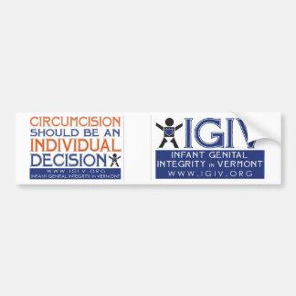 IGIV Dual Bumper Sticker