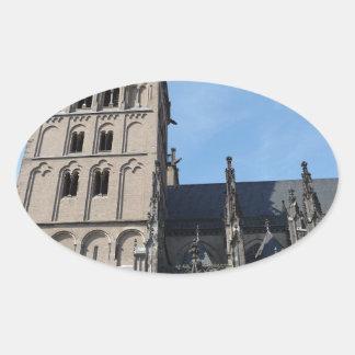 Iglesia, Alemania Pegatina Ovalada