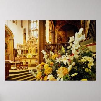 Iglesia amarilla de la universidad de Stonyhurst,  Posters